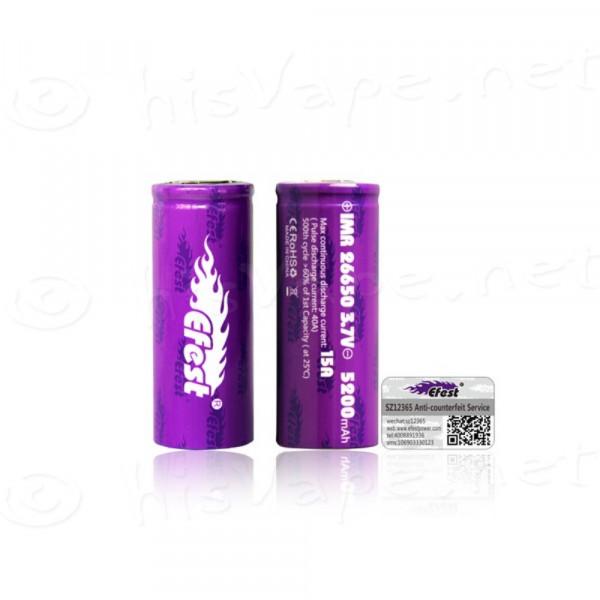 Efest Purple IMR26650 5200mAh