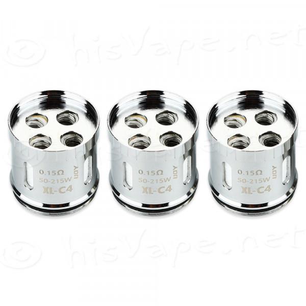 3 x IJOY XL-C4 Light-up Chip Coil Limitless XL 0.15 Ohm