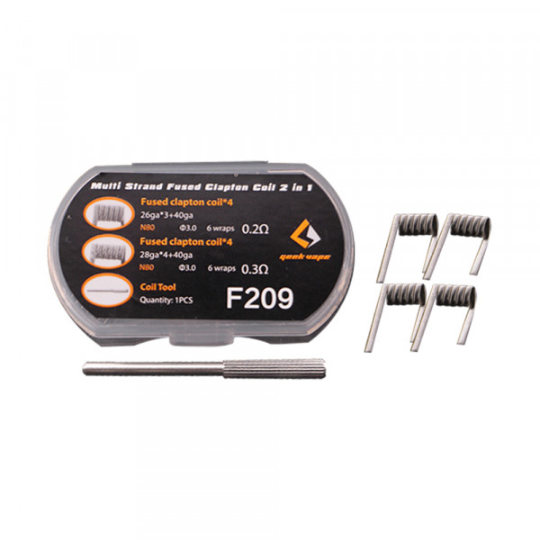 8 x Geek Vape Multi Strand Fused Clapton Coil 2in1