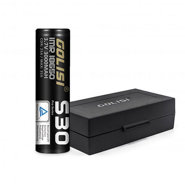 Golisi S30 18650 battery 3000mAh incl. box