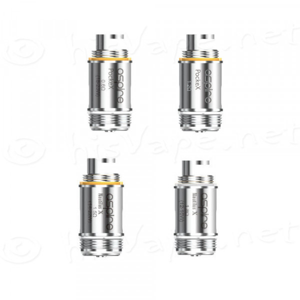 5 x Ersatzverdampfer Aspire PockeX - Nautilus X