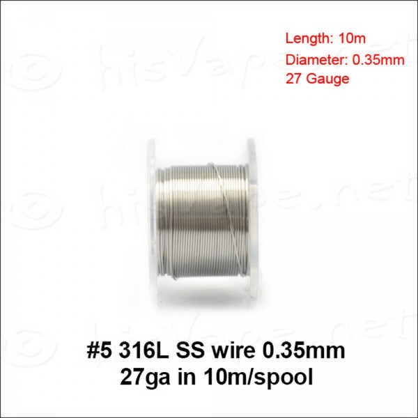 Stainless Steel 316L wire 0,35mm / 10m