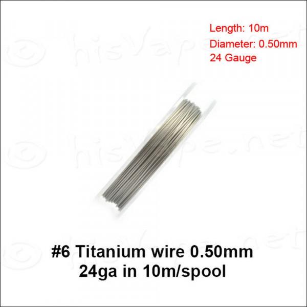Titanium Wire 0,50mm / 10lfm