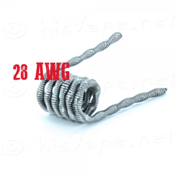 5x Twisted Core Clapton Coil 28AWG