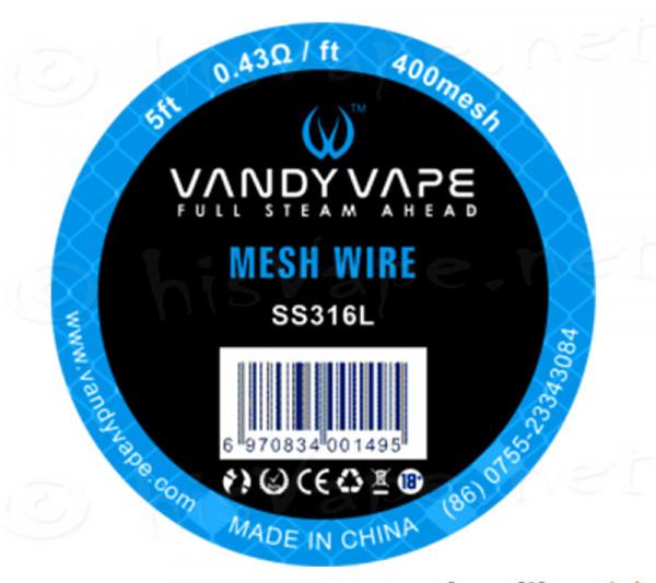 Vandyvape 400 Mesh Wire SS316L