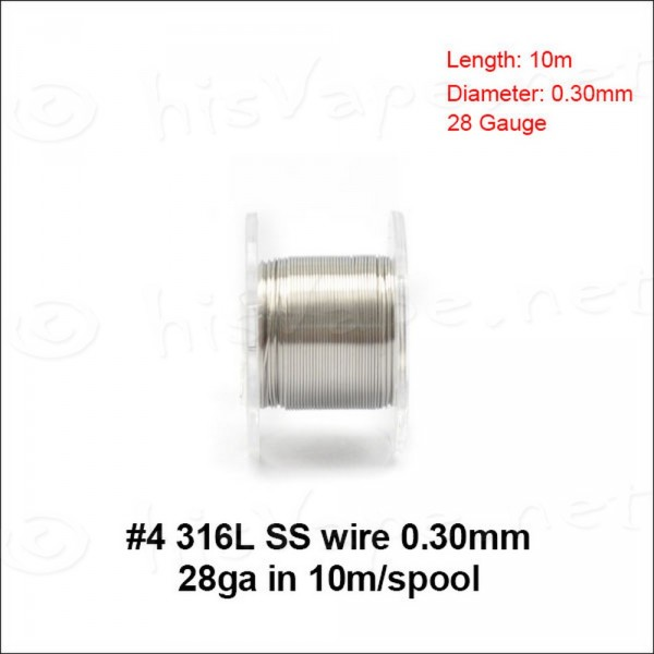Stainless Steel 316L wire 0,30mm / 10m