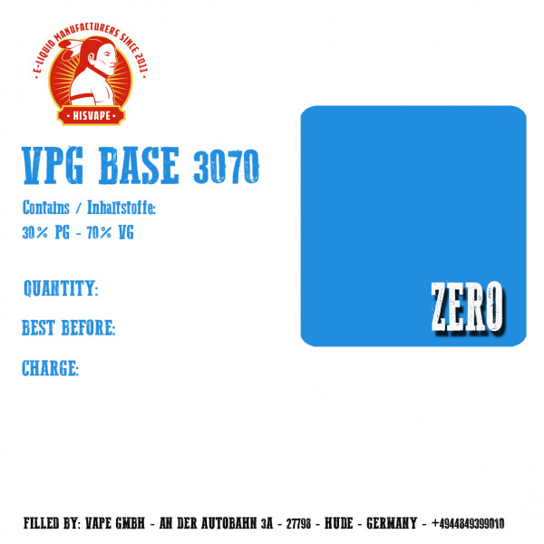 1000ml VPG 70/30 Base Zero