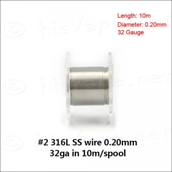 Stainless Steel 316L wire 0,20mm / 10m