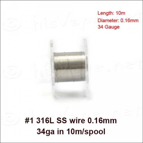 Stainless Steel 316L wire 0,16mm / 10m
