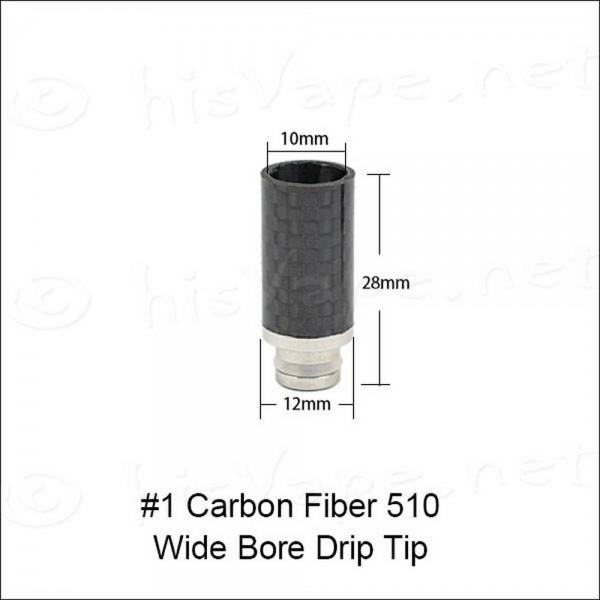 Carbon/ ESS wide bore Drip Tip