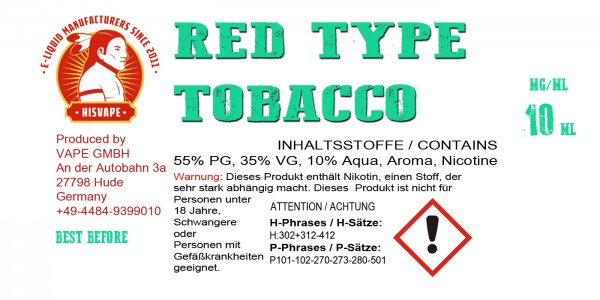 Red Type Tobacco